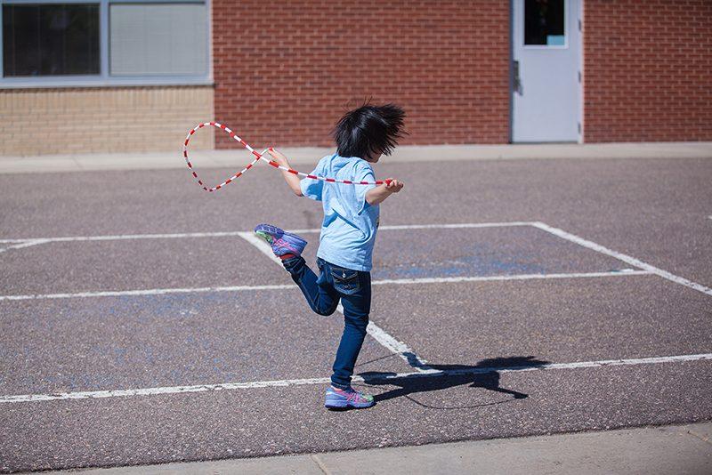 child jump roping
